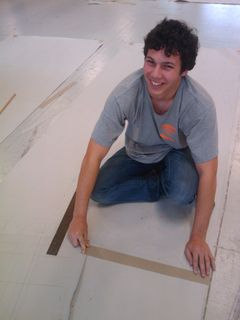 Sebastien helped measurements and markings
